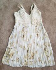 Anthropologie Deletta Party Beach Flowy Pleated Floral Womens Dress Sz L ~k2