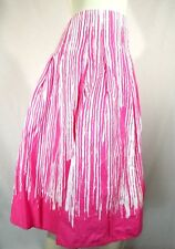 Cato Skirt Size 8 Pink White Paint Drip Print Art To Wear 100% Cotton Boho