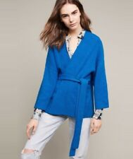NEW Anthropologie Alcott Belted Cardigan Sweater Size Small Royal Blue