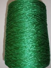 CHAINETTE 1000 YPP KELLY GREEN RAYON FINGERING CONE YARN 1 LB 1 OZ (CH4)