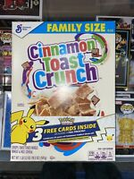General Mills Cinnamon Toast Crunch Cereal Pokemon 25th Anniversary Pikachu