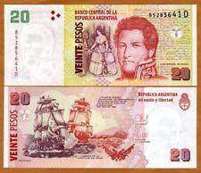 Argentina, 20 Pesos, ND (2003), P-355, D-Series, (2014), UNC > Sea Battle