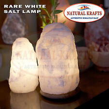 Himalayan White Salt Lamp 2-3 KG Rock White Crystal Natural Mineral Cable & Bulb