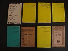 Konvolut Bücher 8x RECLAM Taschenbücher Lesestoff K0391