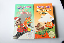Buttons & Rusty and a Christmas Special, Halloween Party VHS Lot Sealed 1987