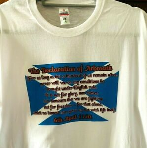 """""""Declaration of Arbroath"""" T-Shirt - Exclusive - Only **£7.95**"""