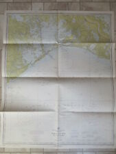 vintage NAUTICAL CHART BARATARIA BAY and APPROACHES  LOUISIANA 1969 MAP