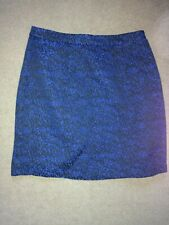 SUGARHILL BOUTIQUE BLUE BLACK FLECK WINTER MINI SKIRT SIZE 8