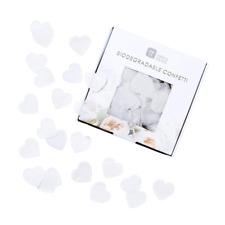 Biodegradable Confetti White Hearts