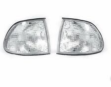 Pair Front Corner Turn Signal Clear lamp Light for BMW 7 95-98 E38