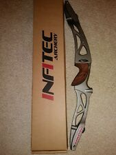 Infitec Challenger Olympic recurve riser titanium silver color right handed