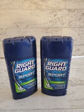 Lot of 2 Right Guard Sport Fresh Invisible Solid Antiperspirant  48 hour 2.6 Oz