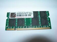 Barrette mémoire TRANSCEND 1 GO SO-DIMM DDR2 PC2 5300