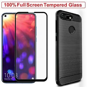 For Honor View 20 Case Armor Cover+Tempered Glass Screen Portector Honor View 20