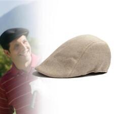 été Cabbie Newsboy Cap Homme Plaid Hat Ivy Golf Driving Sun Flat Vintage Kaki HS