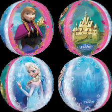 "Disney's Frozen Orbz 17"" 4-Sided Jumbo Round Foil Birthday Party Supplies NEW!"