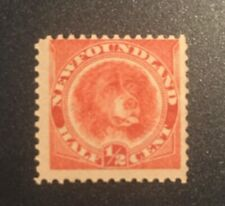 Stamps Canada Newfoundland Sc56 1/2c rose red Dog of 1888. See description