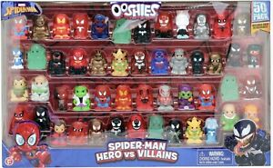 OOSHIES Marvel Spiderman 50 Pack Includes Over 20 Exclusives