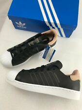 9906d6a7861 Adidas Originals Womens Superstar Decon Running Shoes Sneakers 8 Black  Leather