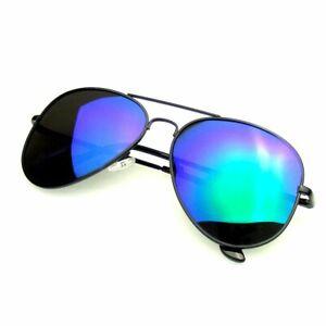 SUNGLASSES Mens Womens Retro Aviator Polarized Flash Mirrored Lens Sunglasses