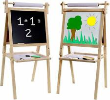 Kraftic Kid's Drawing Easel- Chalkboard, Magnetic Dry Erase Board and Paper Roll