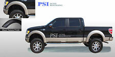 BLACK TEXTURED Extension Style Fender Flares 2009 - 2014 Ford F-150 ; FULL Set