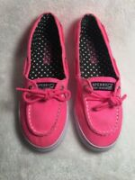 Sperry Womens Size 4.5 M Boat Shoes Top-Sider Pink deck Flats Loafers