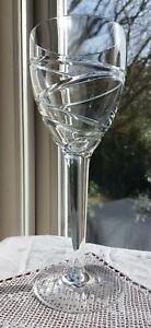 """Stuart Crystal Jasper Conran Aura 10"""" Large Wine Glass/Goblet, signed"""