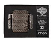 Zippo Lighter 'HARLEY DAVIDSON 2021 COTY' On High Polished Black Ice Finish ,NIB