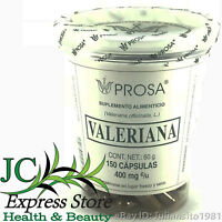 VALERIAN 150 CAPSULES 400 mg CAPSULAS DE VALERIANA RELAX CENTRAL NERVOUS SYSTEM