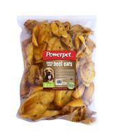 All Natural Beef SMOKED Cow Ears DOG Treats 50 count -BRC Certified