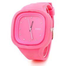 ZGO Quartz Jelly Watches with Rhinestone Unisex Super Cute (Assorted Colors)