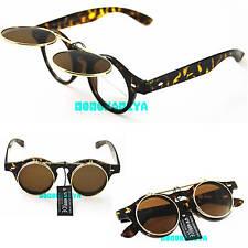 Steampunk Leo Gafas Flip Up gafas de sol de calidad superior Estilo Vintage Y Retro Para Hombre Para Mujer