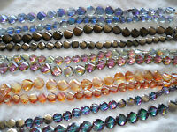 Joblot 10 strings Mixed colour Disc shape faceted Crystal beads new wholesale A