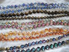Joblot 10 Cuerdas mezclado de color en forma de disco Cristal facetado granos de nuevo al por mayor una