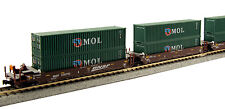 KATO 1066154 N 5 Car Set Gunderson MAXI-I DBL STACK BNSF 239702 w MOL 106-6154