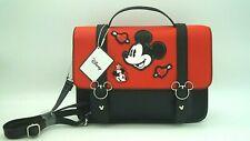 Disney Mickey Mouse Latzhose Schultertasche Tasche Hand Bag Maus Patch Aufnäher