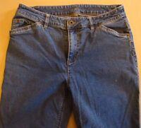 J. Jill Stretch Bootcut Women's Jeans Size 6 Petite Blue Denim Pants 29x29