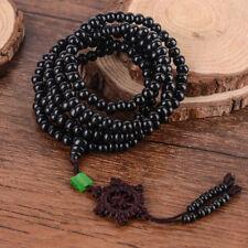 216 Cuenta Collar Pulsera Budista Sándalo Mala Oración Beads Tibet Buddha negro