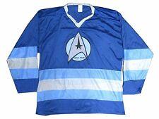 STAR TREK CLASSIC PATCH LOGO DARK BLUE HOCKEY JERSEY SHIRT NEW OFFICIAL NOS