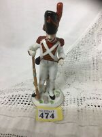 Continental Napoleonic Porcelain MILITARY FIGURE MARKED ON BASE N Below Crown