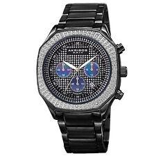 Men's Akribos XXIV AK778BK Diamond Chronograph Stainless Steel Bracelet Watch