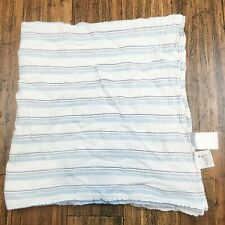 Aden + Anais Baby Girl Boy Infant Receiving Blanket Swaddle Blue & White Striped