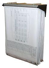 Adir Schwarz Tiefer Lift Wand Rack für Blueprints Pläne W/12-File Wandbehang