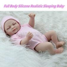 28CM Reborn Girl Baby Dolls Handmade Full Body Lifelike Toy Vinyl Silicone