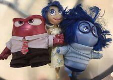Set Of Disney Inside Out Talking Figures Joy Anger Sadness