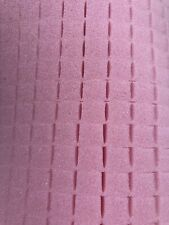 """Pick and Pluck Foam PINK Anti Static Sheet 12"""" X 13"""" X 1"""" with 1/2"""" pull grid."""