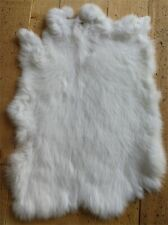 3x White High Grade Real Rabbit Fur Pelt Rabbit Skin For Pets Clothes Bag Shoes