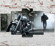 Framed 5 Panels Motor Harley Davidson Cycles Painting Canvas Wall Art Home Decor