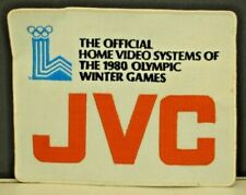 "1980 Lake Placid Olympics JVC Sponsor Patch Official Home Video Systems 7"" x 9"""